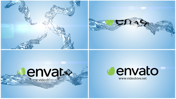 Clean Liquid Logo Reveal - Water Logo pistot After Effects Project Files