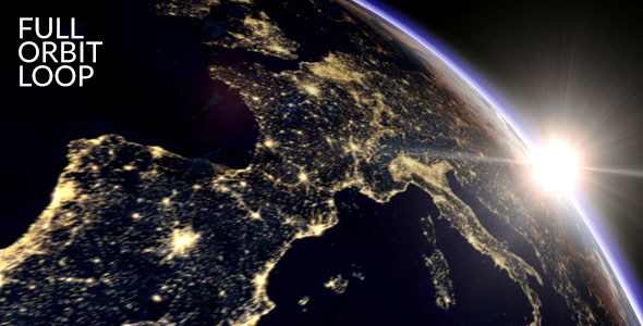 Maan ja Auringon Orbit - Space Taustat Motion Graphics