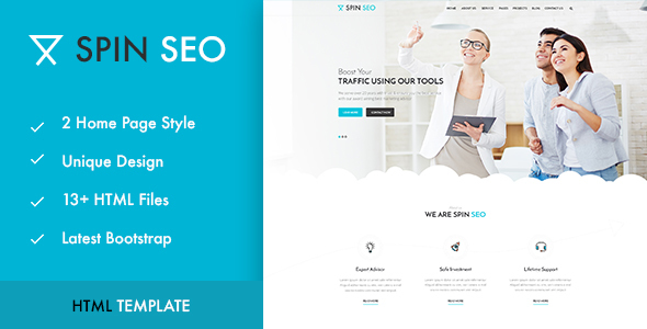 SPIN SEO - SEO & Business HTML Template!