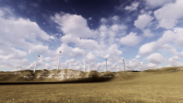 Wind Power - 3D, Object Taustat Motion Graphics