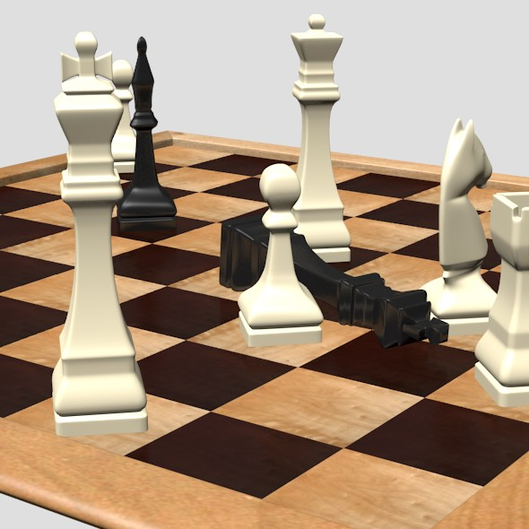 3DOcean Chess Board and Chessmen 16532579
