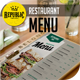 Bifold Clean Restaurant Menu