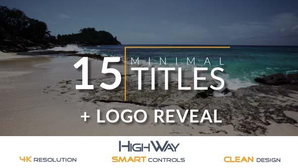 15 Vähäinen osastot Pack + Logo Reveal - Nature osastoille After Effects Project Files
