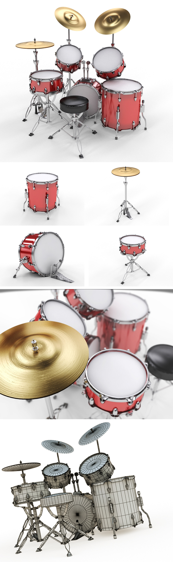 3DOcean Drum Set 16534423
