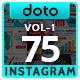 Multipurpose Instagram Templates - 75 Designs