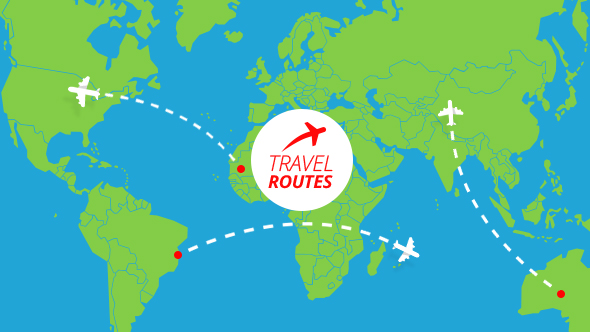 Travel Routes Maker by MotionIdea – Travel Map Maker