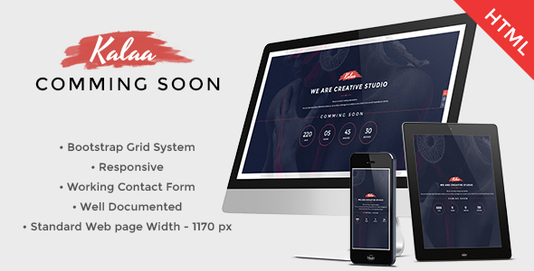 Kalaa - Coming Soon - Template (Responsive)