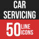 Car Servicing Filled Line Icons