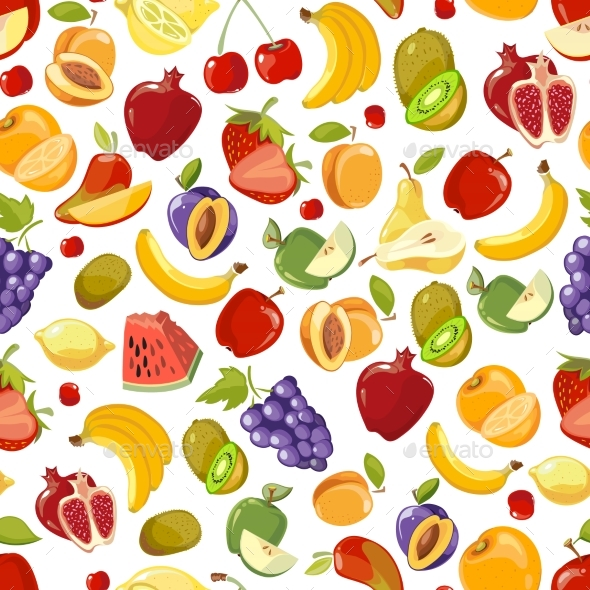 Seamless Summer Fruit and Berries