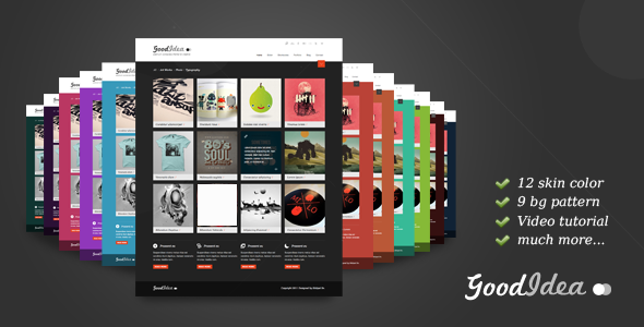 Goodidea - creative wordpress theme - intro