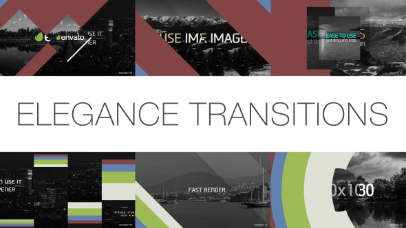 Elegance Siirtymät PACK 30 kohteet - Abstract Transition Elements After Effects Project Files