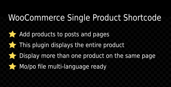 WooCommerce Single Product Shortcode