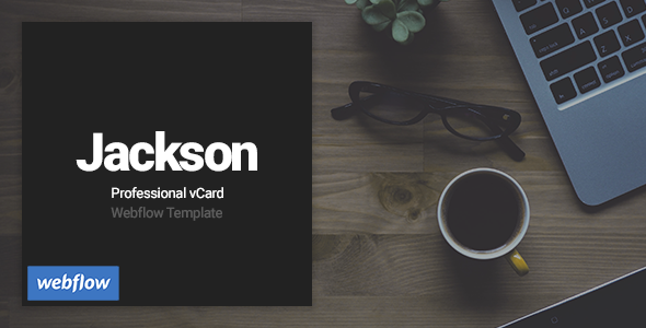 Image of Jackson - Professional vCard Webflow Template