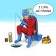 Superhero on Ice Fishing Comic Book