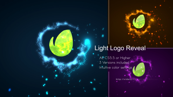 Light Logo Reveal - Light Logo pistot After Effects Project Files