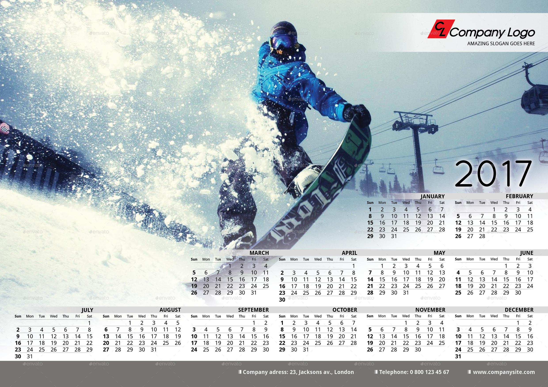 2017 Poster-Calendar template by La_Croix | GraphicRiver