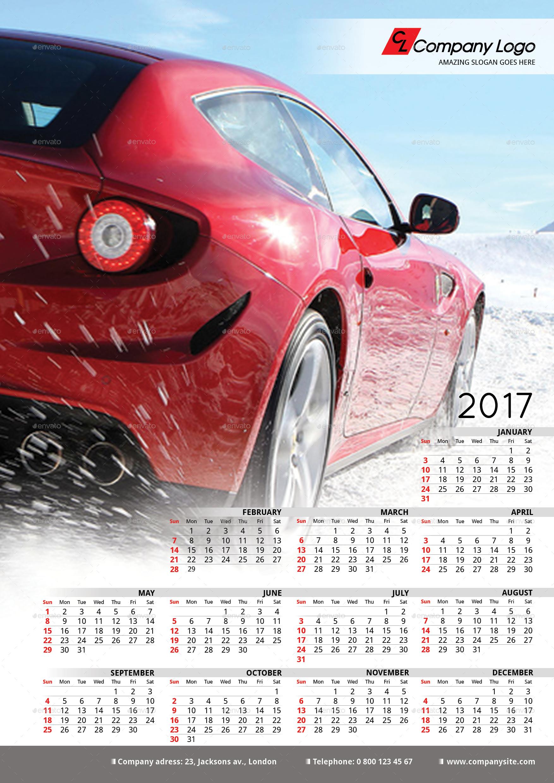 Calendar Poster Template : Poster calendar template by la croix graphicriver