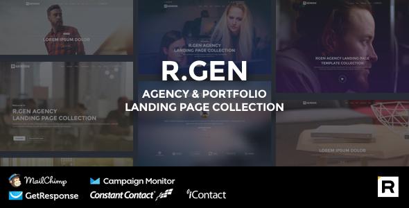 R.Gen - Agency Landing Page