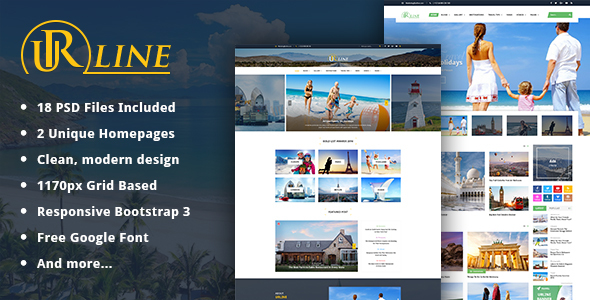 Urline - Creative Business PSD Template