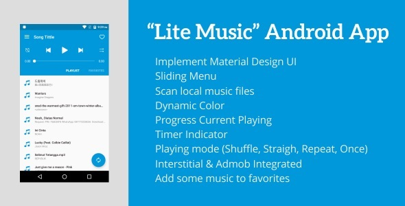 Lite Music 3.0 - Android Music Player