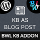 KB Display As Blog Post - Knowledge Base Addon