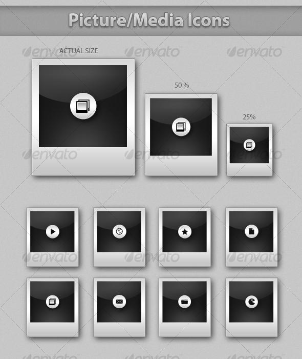 GraphicRiver Picture Media Icons 64572