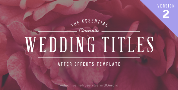 The Essential Wedding osastot Pack Versio 2 - Arvot After Effects Project Files