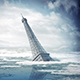 The Eiffel Tower In Rising Sea Levels