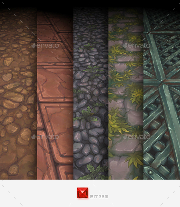 3DOcean Hand Painted Texture Pack 11 16556559