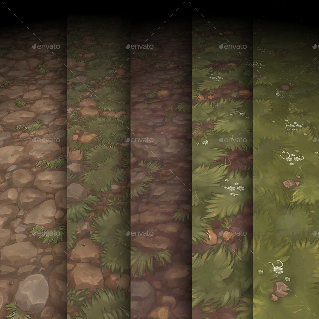 Hand Painted Texture Pack 13 By Bitgem 3docean