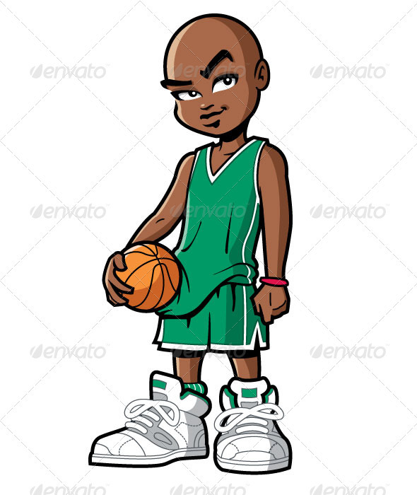 Cartoon Characters Playing Basketball : Basketball player with attitude graphicriver