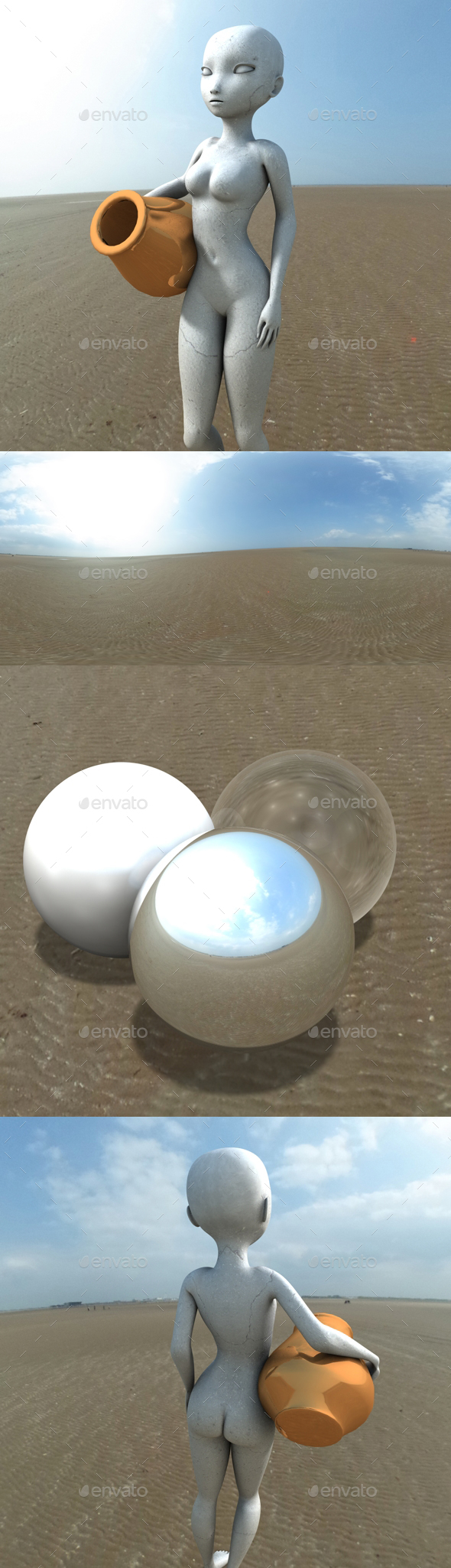 Bright Sunny Sky HDRI - 3DOcean Item for Sale