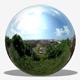 Sunny Treetop Town Overlook HDRI