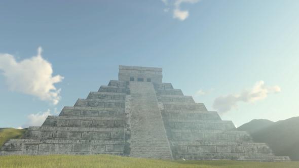3D Kukulkan Pyramid Chichen Itza - 3D, Object Taustat Motion Graphics