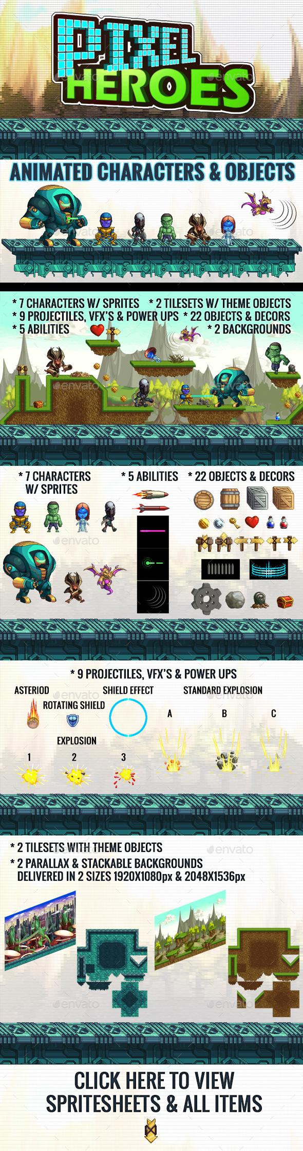 Pixel Heroes Kit 1 (Game Kits)