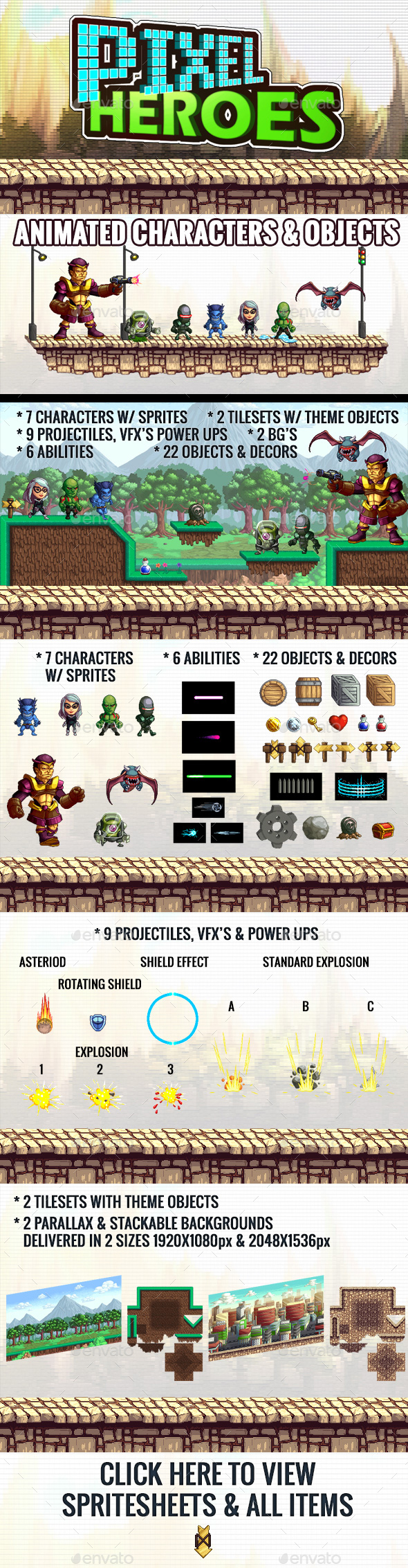 Pixel Heroes Kit 2 (Game Kits)