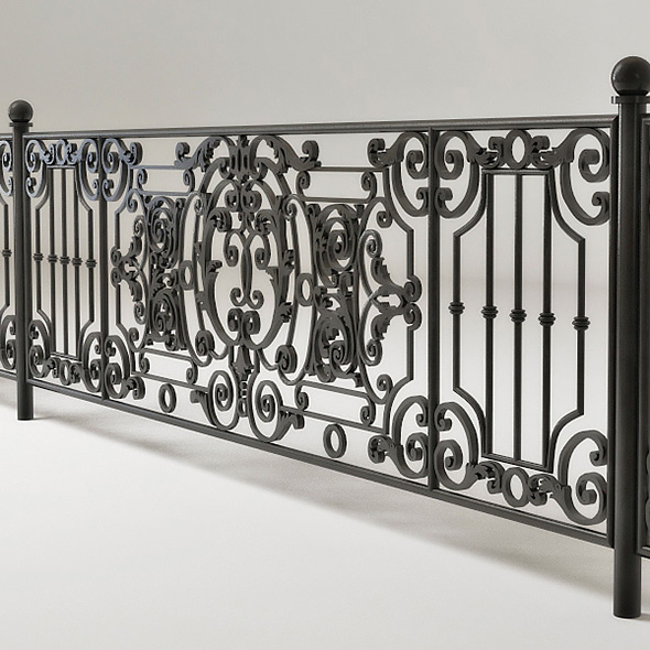 forged fence - 3DOcean Item for Sale