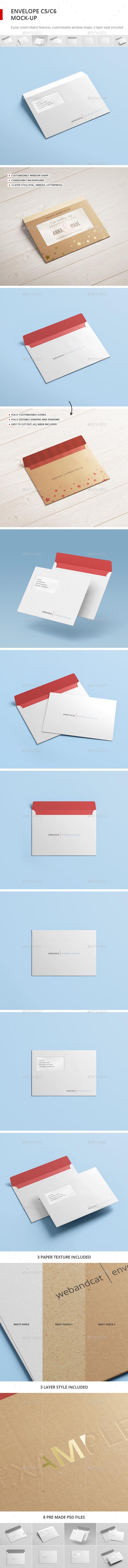 Envelope C5 / C6 Mock-up (Stationery)