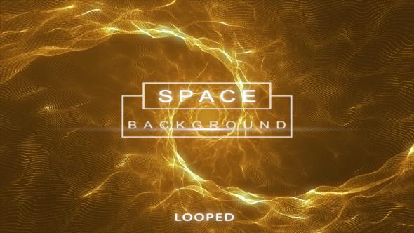 Gold Space - hiukkaset Waves Background - Tapahtumat Taustat Motion Graphics