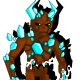Blue Stone Devil Enemy Character Spritesheet