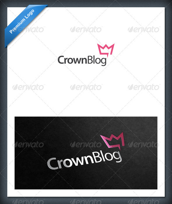 GraphicRiver Crown Blog and Chat Logo Template 1653712