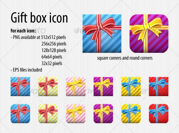 GraphicRiver Gift Box icon 64616