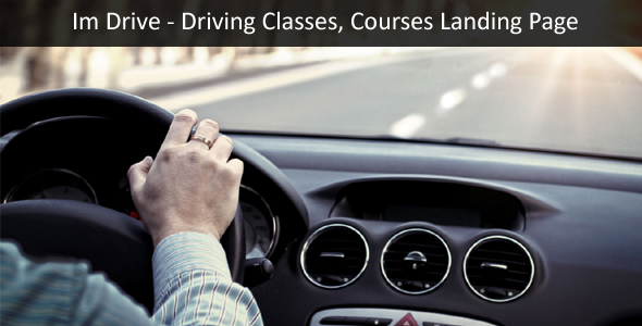 Im-Drive Driving Classes, Courses Landing Page Template