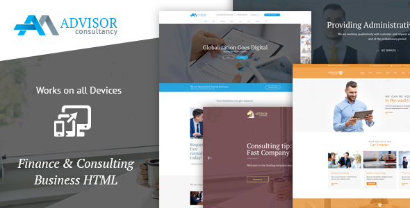 Advisor Consultancy, Business, Finance Template