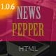 NewsPepper - Magazine HTML5 Template