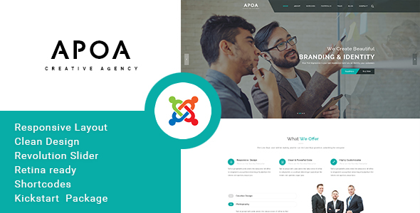Apoa - Business Responsive Joomla Theme