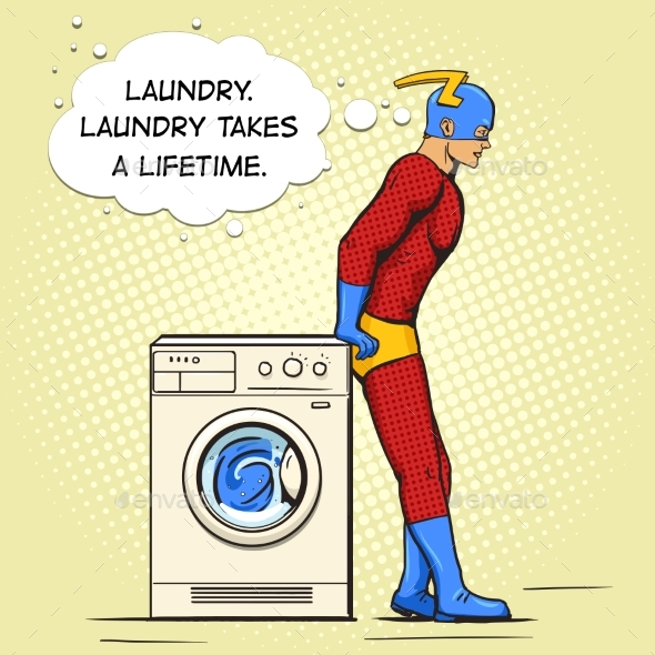 Superhero in the Laundry Comic Book