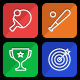Sports - Games and Fitness Flat Line Icons