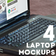 4 Room Interior Laptop Mockups