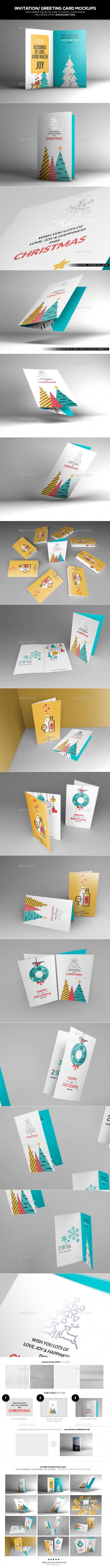 Invitation/ Greeting Card Mockups